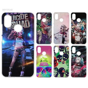 BINYEAE Case Cover Clear Hard PC Plastic for Xiaomi Redmi Note 4 4X 5 Plus A1 S2 A2 8 SE Harley Quinn Suicide Squad
