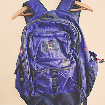 Backpack Blue Purple  Zipper Back Pack with  RuckSack Hiking Seattle Style Portland Style In Gear Black Mountain Sports