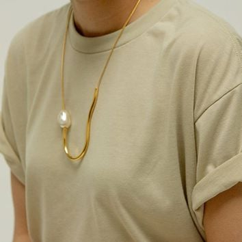 Chock A Block Pearl Necklace