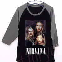 Nirvana Hanson Funny Unisex Men Women Black Long Sleeve Baseball Shirt Tshirt Jersey