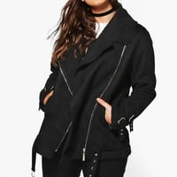 Plus Francesca Bonded Aviator Jacket