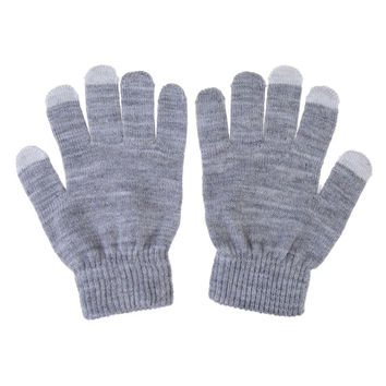 Best Selling Women Men Gloves Touch Screen Soft Cotton Gloves Warmer Smart All phone Black Eldiven  SN9