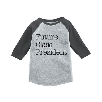 Custom Party Shop Kids Future Class President School Raglan Tee