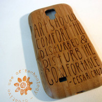 ON SALE Samsung Galaxy S4 case - wooden cases walnut / cherry or bamboo wood-  Art should