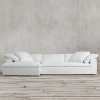 Preconfigured Cloud Track Arm Left-Arm Sofa Chaise Sectional