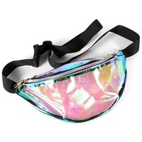 Clear Silver Fanny Pack