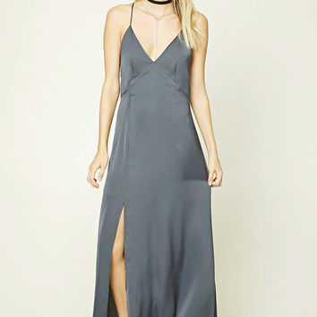 Contemporary Satin Maxi Dress
