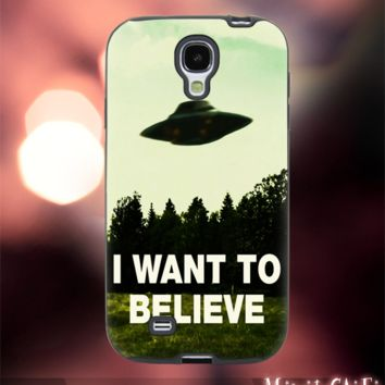MC11Y,13,i Want To Believe,X,File,Ufo,Fly -Accessories case cellphone- Design for Samsung Galaxy S5 - Black case - Material Soft Rubber