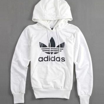 MDIGON1O Day First Adidas Women Fashion Hooded Top Pullover Sweater Sweatshirt Hoodie