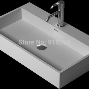 Bathroom Corian Under-Counter Wash Sink Solid Surface Stone Wash Basin Artificial Stone Laundry Sink Rs38344