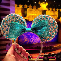 Princess Ariel Bedazzled Minnie Mouse Ears