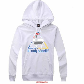 Le Coq Sportif Women Men Casual Long Sleeve Top Sweater Hoodie Pullover Sweatshirt