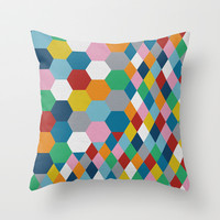 Honeycomb Throw Pillow by Project M