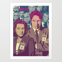 THE X-FILES v2 Art Print by Mike Wrobel