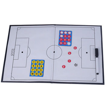 Foldable markers tactics coaching board Soccer/Football Sport strategy board Coaches Tactic Folder
