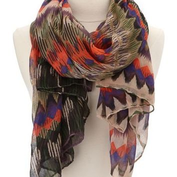 Sketched Diamond Print Scarf: Charlotte Russe