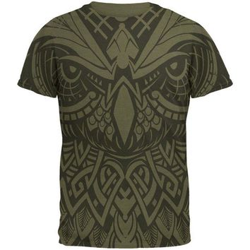 LMFCY8 Trippy Owl Outline Men's Soft T-Shirt