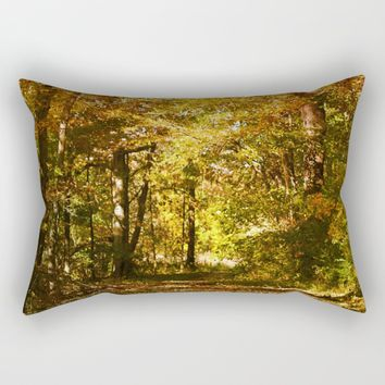 Woods Lake Trail Rectangular Pillow by Theresa Campbell D'August Art