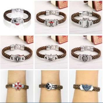HSIC Bangle Assassins Creed III 3 Leather Wristband Game Bracelet Promo Collectors Cosplay Accessories for Fans