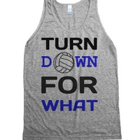 For What Volleyball tank top tee t shirt-Unisex Athletic Grey Tank