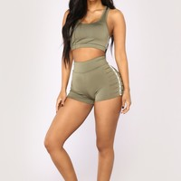 Babe Magnet Active Shorts - Olive