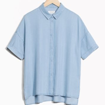 & Other Stories   Oversized Blouse   Blue
