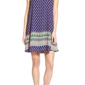 Sienna Sky Print V-Neck Shift Dress | Nordstrom