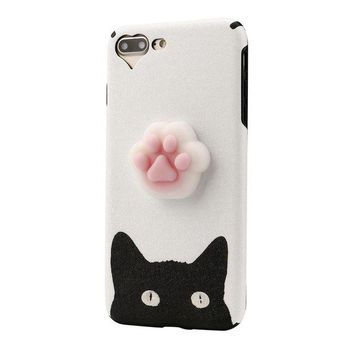 VONW3Q GBSELL Cute Squishy 3D Lazy Cat Soft Back Case Cover for iPhone 7 Plus