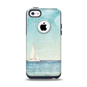 The Faded WaterColor Sail Boat Apple iPhone 5c Otterbox Commuter Case Skin Set