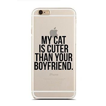 Clear Snap-On case for iPhone 5/5S - My Cat Is Cuter Than Your Boyfriend. (C) Andre Gift Shop