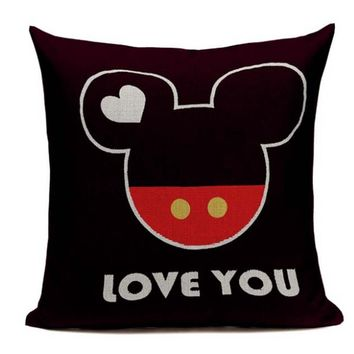 Love You Disney Style Pillow Cover D3