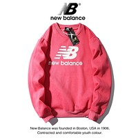 New Balance Autumn And Winter Fashion New Letter Print Women Men Sports Leisure Long Sleeve Top Sweater