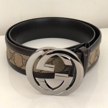 92636e6e2 Pre-owned Authentic Gucci Vintage GG buckle Women leather belt 9