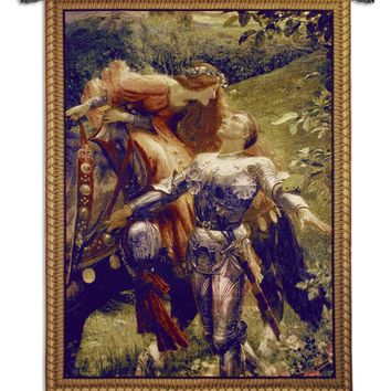 USA Woven Tapestry Wall Hanging La Belle Dame Sans Merci Large