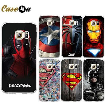 Deadpool Dead pool Taco For Galaxy S7 Edge  Spiderman Avengers Hard PC Case Coque For Samsung Galaxy S6 S7 Batman Ironman Superman Accessories AT_70_6