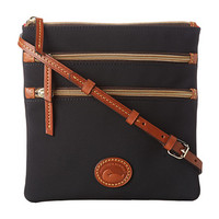 Dooney & Bourke Nylon North/South Triple Zip Khaki w/ Tan Trim - Zappos.com Free Shipping BOTH Ways
