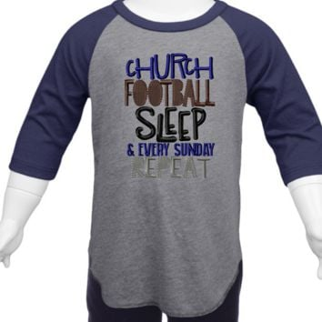 Church Football Sleep Raglan