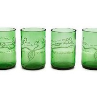 PROTECT OUR EARTH GLASSES - SET OF 4 | Recycled Glass Tumblers, WWF Gift | UncommonGoods