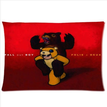"fall out boy art design Custom Pillow Case Pillow Inner Included 16""x24"" or 20""x30""  One side"
