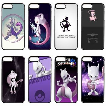 cute kawaii anime  Mewtwo cover case For ipod touch iPhone 4 4s 5 5s 5c SE 6 6s plus 7 7plus 8 8plus X phone caseKawaii Pokemon go  AT_89_9