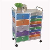 4D Concepts Multi - color drawer Rolling Cart