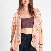 Geisha Floral Open Kimono - $34.00 : ThreadSence, Women's Indie & Bohemian Clothing, Dresses, & Accessories