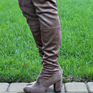 Tall Order Brown Knee High Boots