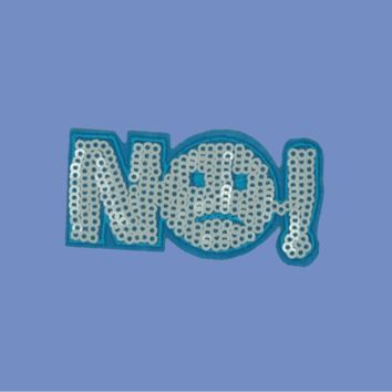 No!! Sequin Patch