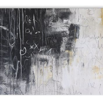 CHALKBOARD ABSTRACT SET TWO Canvas Art By Jolina Anthony