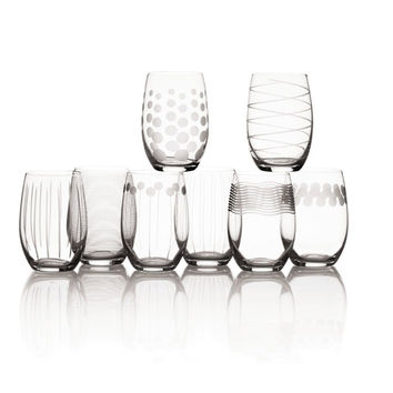 Mikasa Cheers Stemless Wine Glass 17-Ounce Set of 8