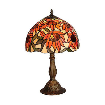 Amora Lighting AM1084TL12 Tiffany Style Sunflower Table Lamp