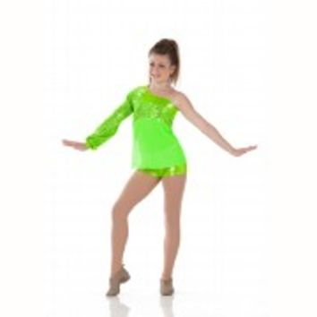 FABULOUS Top & Shorts Jazz Tap Dance Costume Halloween Child Small & 6x7