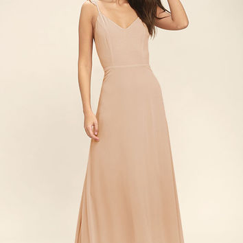 Meteoric Rise Blush Maxi Dress