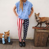 American Flag Print Leggings Stars n' Stripes from The Gingham Deer